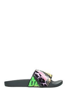 Marc Jacobs-Slides Cooper Punk in pelle multicolor animalier