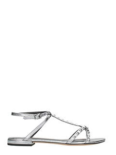 Marc Jacobs-Sandali Ana  in pelle argento