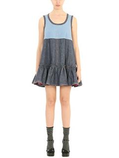 Marc Jacobs-Vestito in cotone e denim azzurro