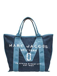 Marc Jacobs-Borsa Tote in denim di cotone blu