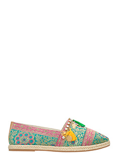 Lola Cruz-Espadrillas in tessuto damascato multicolor