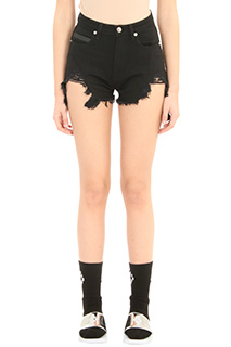 Marcelo Burlon-Alin black denim shorts