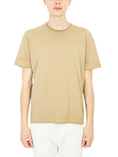 Neil Barrett-T-Shirt Lightning Bolt in cotone beige
