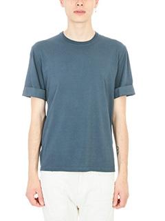Neil Barrett-T-Shirt Lightning Bolt in cotone blue