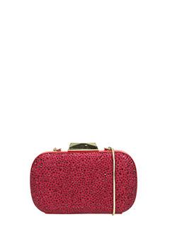 Lola Cruz-Pochette Henderson in tessuto rosso viola