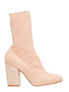 Elena Iachi-rose-pink Tech/synthetic ankle boots