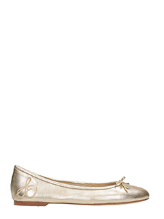 Sam Edelman-Felicia gold leather ballet flats
