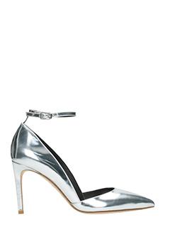 Diane Von Furstenberg-Laredo silver leather pumps