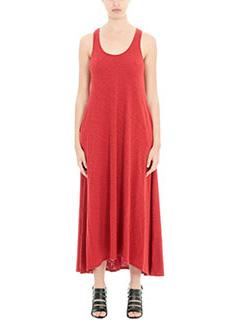 Theory-Vestito Laurem in cotone  rosso