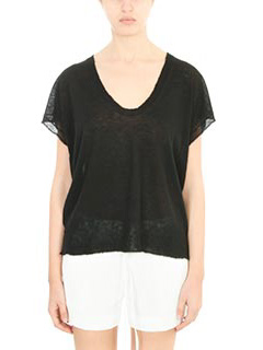 T by Alexander Wang-Top Neck Muscle Pullorer in lana nera