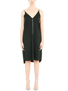 T by Alexander Wang-Vestito Dress With Chain in cr�pe nera