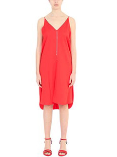 T by Alexander Wang-Vestito Dress With Chain in cr�pe rossa