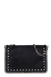 Stella McCartney-Purse star black polyester clutch