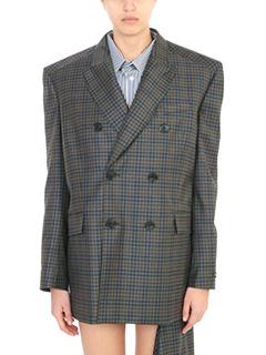 Balenciaga-Giacca Boxy in lana grigia