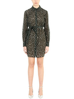 Diane Von Furstenberg-Vestito Mini Dress in cotone nero