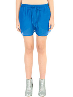 Diane Von Furstenberg-blue cotton shorts
