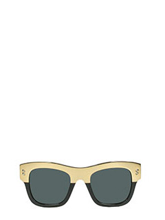 Stella McCartney-Occhiali da sole in bio-acetato bicolore nero e oro