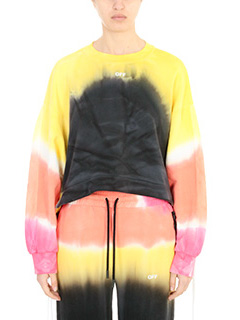 Off White-Felpa Back Coulisse in cotone multicolor