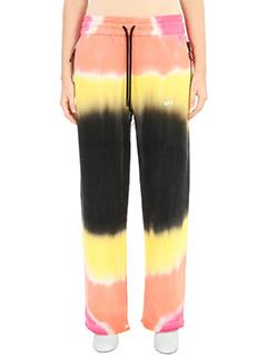 Off White-Pantaloni Tye Dye Slit Pants in cotone multicolor