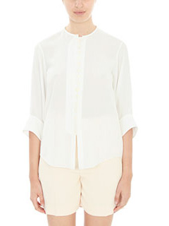 Chlo�-white silk shirt