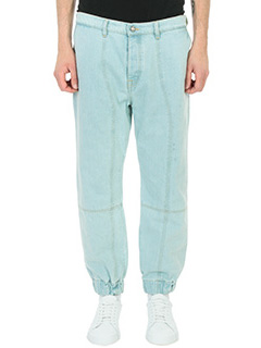 Kenzo-Jeanss Panelled in denim celeste. cuciture
