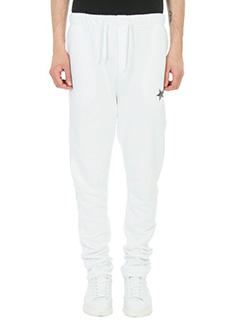 Golden Goose Deluxe Brand-Panta jogging in cotone bianco
