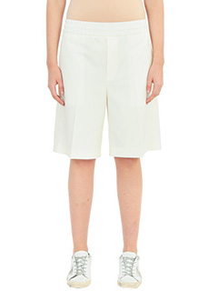 Golden Goose Deluxe Brand-Star short white wool shorts
