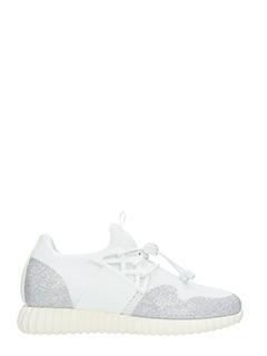 Thoms Nicoll-Sneakers Running in tessuto tecnico bianco argentoi