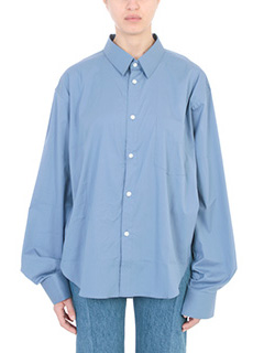Vetements-blue cotton shirt