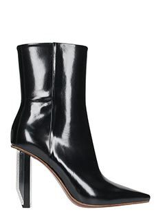 Vetements-black leather ankle boots