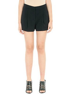 Theory-Thoni rosina black cotton shorts