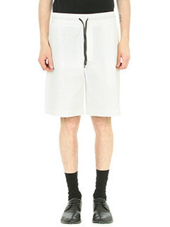 Bernardo Giusti-Shorts in cotone seersucker bianco