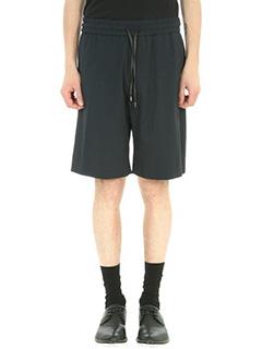 Bernardo Giusti-Shorts in cotone seersucker blu