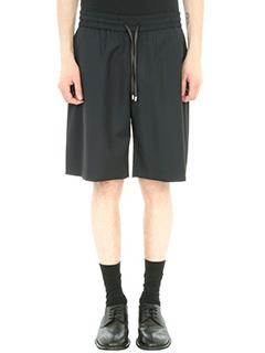 Bernardo Giusti-Shorts in tela di lino nero