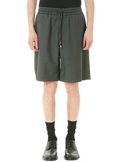 Bernardo Giusti-Shorts in tela di lino grigio