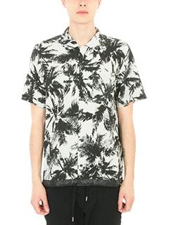 Attachment-Camicia Palm in cotone e lino bianco-palme all over