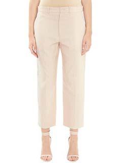 Chlo�-Pantaloni in cotone rosa