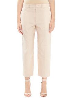 Chloé-Pantaloni in cotone rosa