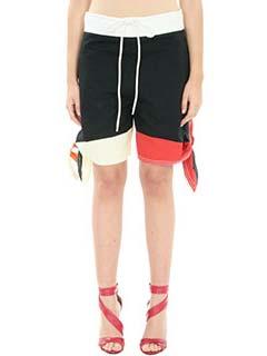 Chlo�-Shorts in cotone nero rosso bianco