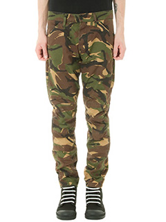 G-STAR RAW ELWOOD-Pantalone Woodland Camouflage Print in cotone