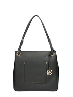 Michael Kors-Borsa Walsh MD Shoulder Tote in pelle nera