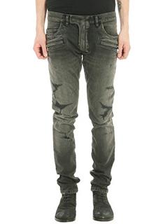 Balmain-black cotton jeans