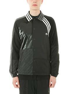Adidas per Alexander Wang-Giacca Patch in tessuto tecnico nero