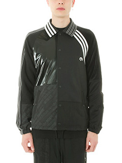 Adidas per Alexander Wang-Giacca Patch in tessuto tecnico nero