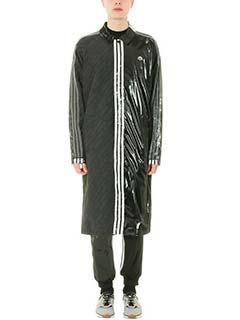 Adidas per Alexander Wang-Trench Patch in tessuto tecnico nero