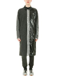 Adidas per Alexander Wang-Trench Patch in tessuto tecnico nero