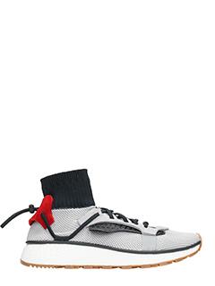 Adidas per Alexander Wang-Sneakers Run in tessuto elastico grigio
