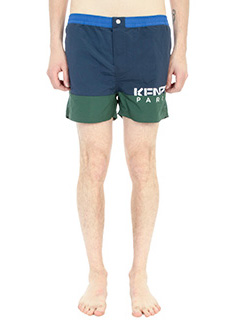 Kenzo-Boxer Kenzo Swim Paradise in cotone e nylon celeste