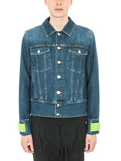 Kenzo-Giacca Flyers Washed  in denim blue