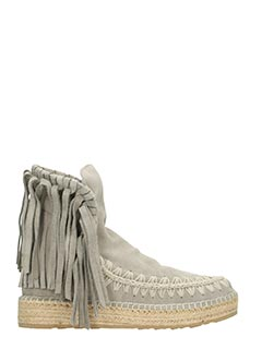 Mou-Jute fringe grey suede boots